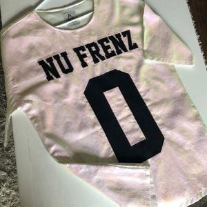 NO NU FRENZ sequin jersey